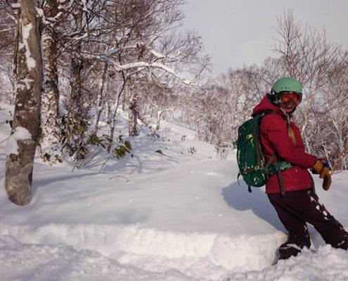 Fleur Snowboarding at Chisenepuri