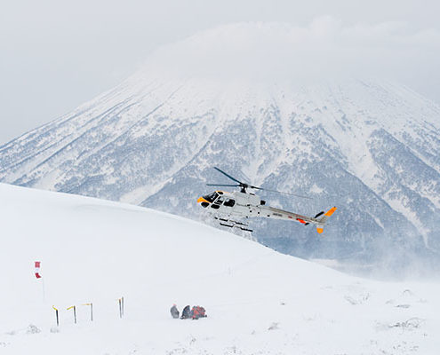 Heli Skiing at Shiribetsu Dake